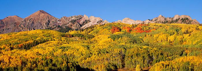 Kebler Pass, Crested Butte, Ruby Range, Mt. Owen, Fall Color, Aspesn, photo