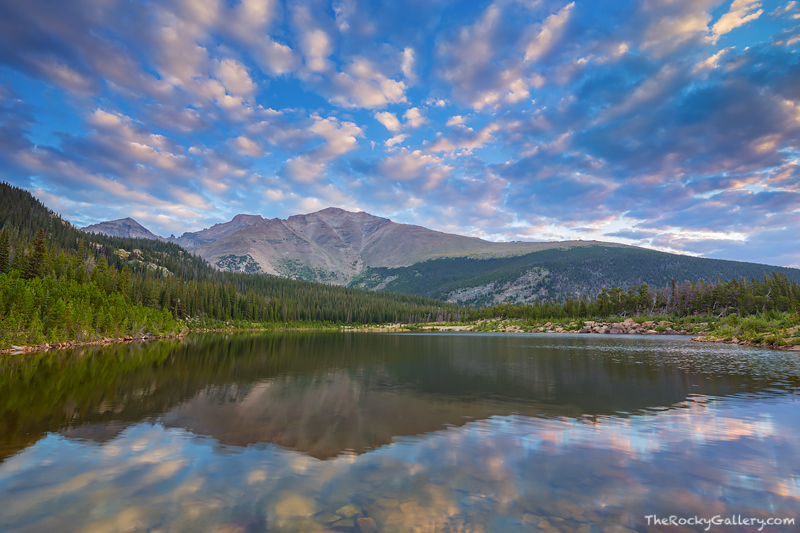 Sandbeach Lake,Rocky Mountain National Park,Colorado,Longs Peak,Mount Meeker,Pagoda Peak,Wild Basin,Allenspark,RMNP,Ests Park,Landscape,Photography,Tahosa Valley,Highway 7,Reflection, photo