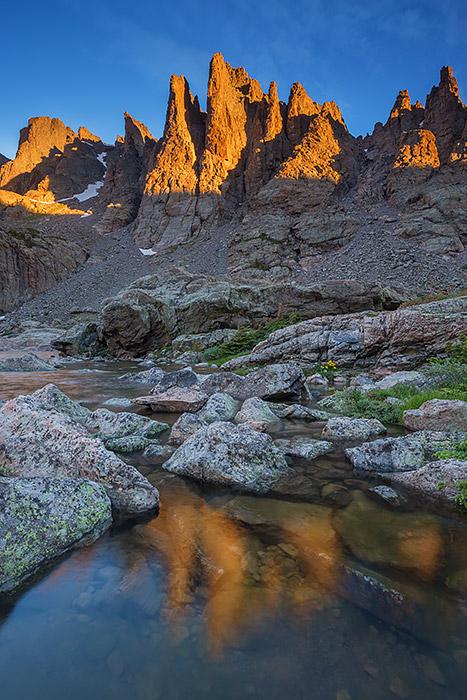 Cathedral Spires,RMNP,Rocky Mountain National Park,Estes Park,Colorado,Petit Grepon, Sharkstooth,Sky Pond,Loch Vale,Photography,Landscape,Sunrise,rock climbers, photo