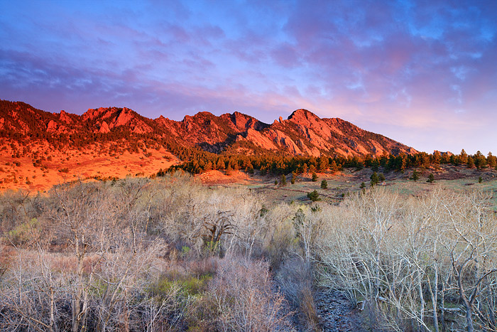 Boulder, Colorado, Open Space, OSMP, South Boulder Peak, South Boulder Creek, Sunrise, Spring, photo