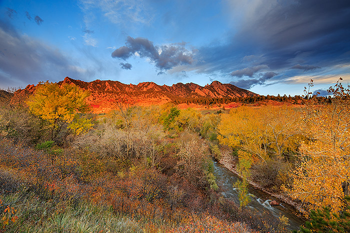 Flatirons,Boulder,Eldorado Springs,Open Space,Autumn,Cottonwoods,South Boulder Creek, photo