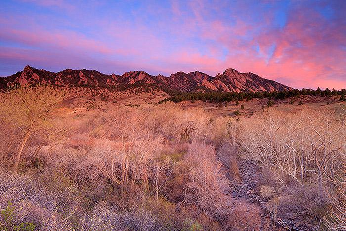 Boulder,Colorado,Flatirons,Spring,South Boulder Creek,Open Space, photo