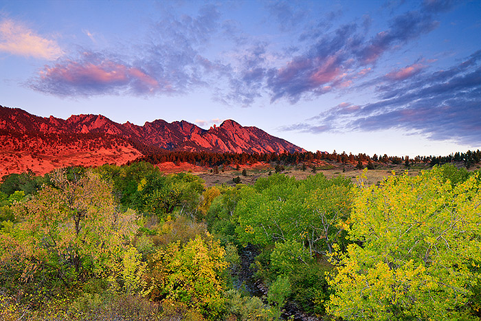 Open Space and Mountain Park,OSMP,Boulder,Colorado,South Boulder,Flatirons,Autumn,Sunrise, photo