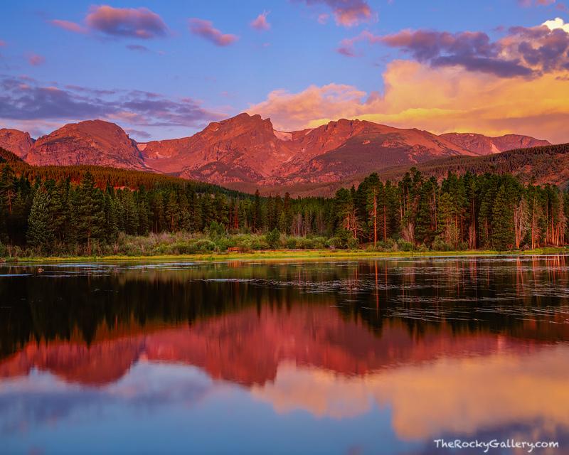 Sprague Lake, Estes Park, Bear Lake, Rocky Mountain National Park, Hallet Peak, photo