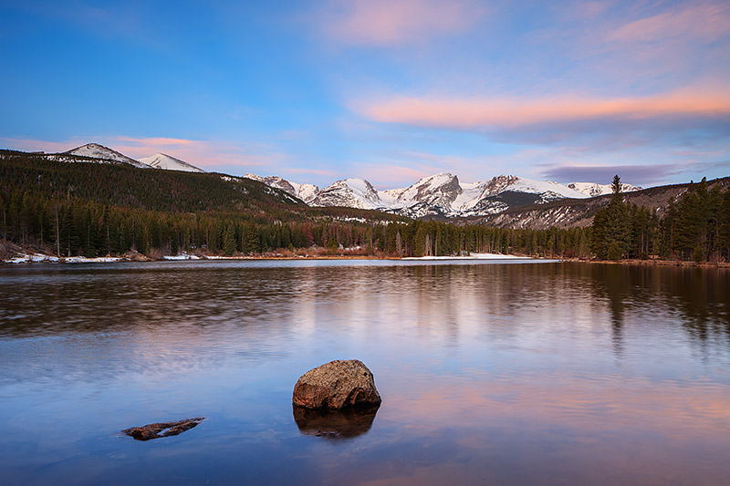 Sprague lake,RMNP,Estes Park,Rocky Mountain National Park,Colorado,Sunrise,Hallet Peak,Otis Peak,Flattop Mountain,continental divide, photo