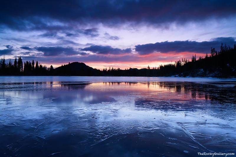 Sprague Lake,Rocky Mountain National Park, Colorado,Winter,Spring,Ice,sunrise,blues ,RMNP,Bear Lake Road,Landscape,Photography,Estes Park , photo