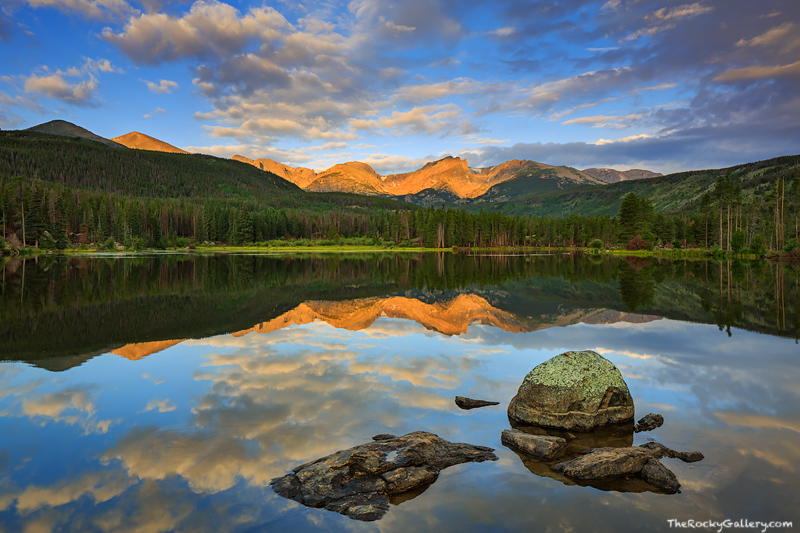 Sprague Lake,Abner Sprague,Sunrise,Hallett,Thatchtop,Flattop,Otis,Rocky Mountain National Park,Colorado,iconic,estes park,bear lake road,landscape,photography,reflection,RMNP, photo