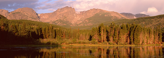 Rocky Mountain National Park, Colorado, Sprague Lake, Estes Park, Hallet Peak, photo