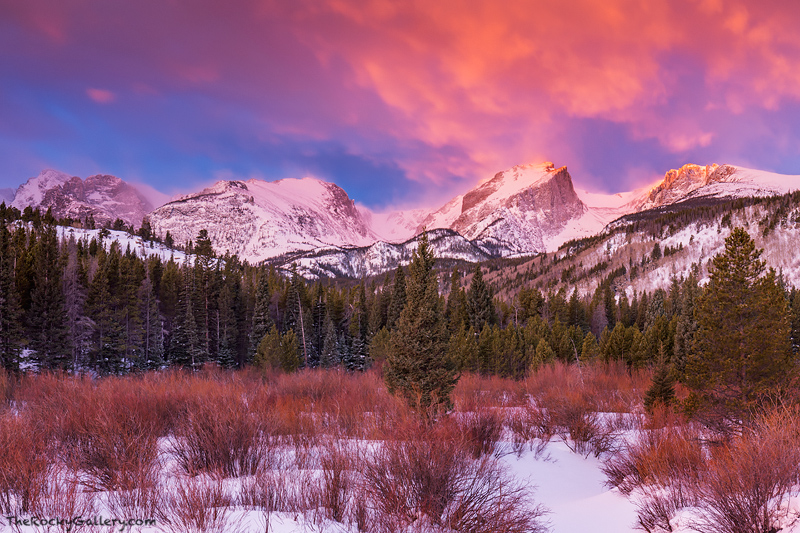 Rocky Mountain National Park,Colorado,Hallet,Flattop,Otis,continental divide,snow,winter,clouds,sunrise,mountains,Glacier Creek,Storm Pass,Bear Lake Road,RMNP,Estes Park,Landscape,Photography, photo