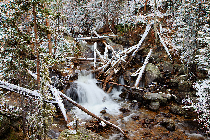 Cony Creek,Wild Basin,North Saint Vrain,Rocky Mountain National Park,Colorado,Snow,waterfall, photo