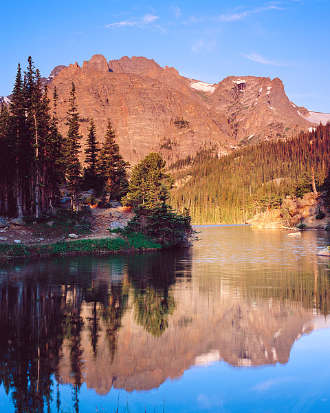 The Loch, Glacier Gorge, Taylor Peak, Estes Park, Rocky Mountain National Park, Colorado,Loch Vale,Cathederal Wall, photo