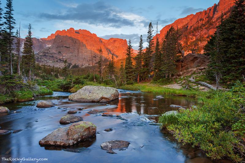 Rocky Mountain National Park, Colorado, Loch Vale, The Loch, Sunrise,Glacier Gorge,Trailhead,Landscape,Photography,RMNP,Estes Park,Mount Taylor,Reflections,, photo