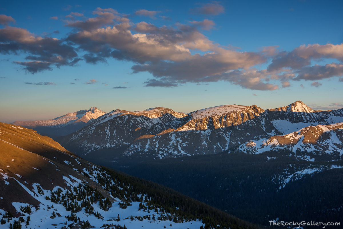 Longs Peak,Mount Ida,Terra Tomah,Forest Canyon,Trail Ridge Road,Sunset,June,Trail Ridge Road,Estes Park,Grand Lake,RMNP,Colorado,Rocky Mountain National Park,Gore Range Overlook, photo