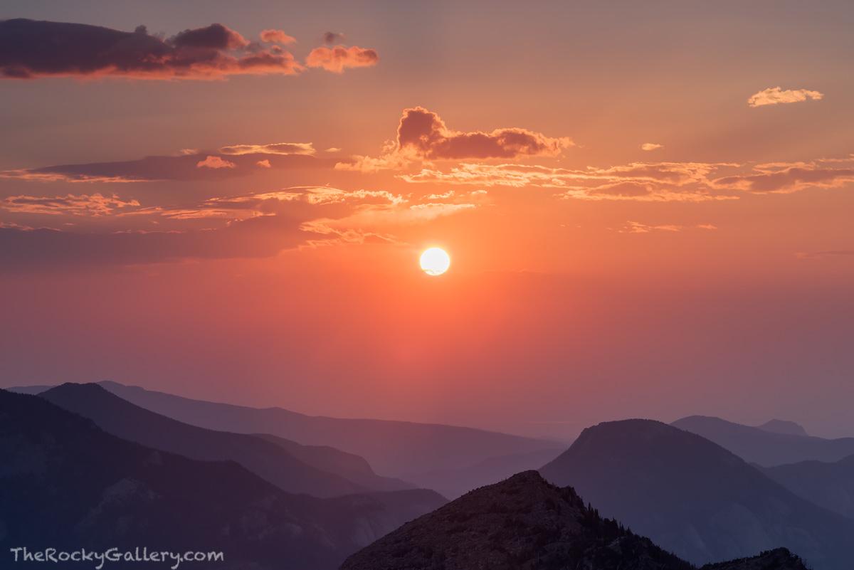 Trail Ridge Road,Estes Park,Grand Lake,RMNP,Rocky Mountain National Park,Sunrise,McGregor Mountain,Smoke,Landscape,Photography,August,Colorado,Lumpy Ridge , photo