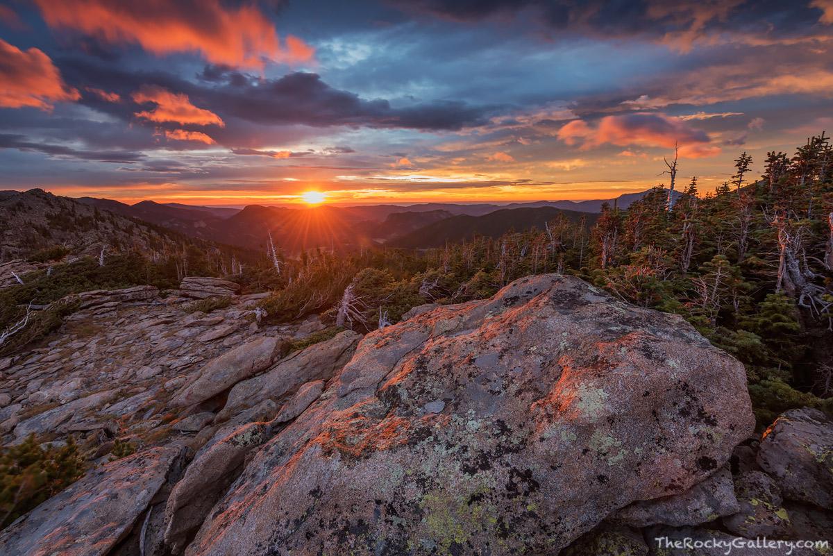 Trail Ridge Road,Windy Ridge,Rainbow Curve,Estes Park,Grand Lake,RMNP,Rocky Mountain National Park,Colorado,Sunrise,Sunburst,Horseshoe Park,Deer Mountain,Landscape,Photography,September , photo