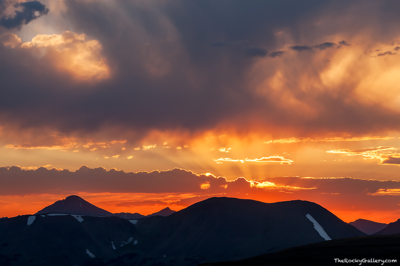 Specimen Mountain, Trail Ridge Road, Rocky Mountain National Park, Sunset, Colorado,RMNP,Estes Park,Landscape,Photography,clouds,Grand Lake , photo
