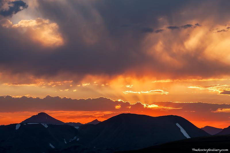 Specimen Mountain, Trail Ridge Road, Rocky Mountain National Park, Sunset, Colorado,RMNP,Estes Park,Landscape,Photography,clouds,Grand Lake , photo
