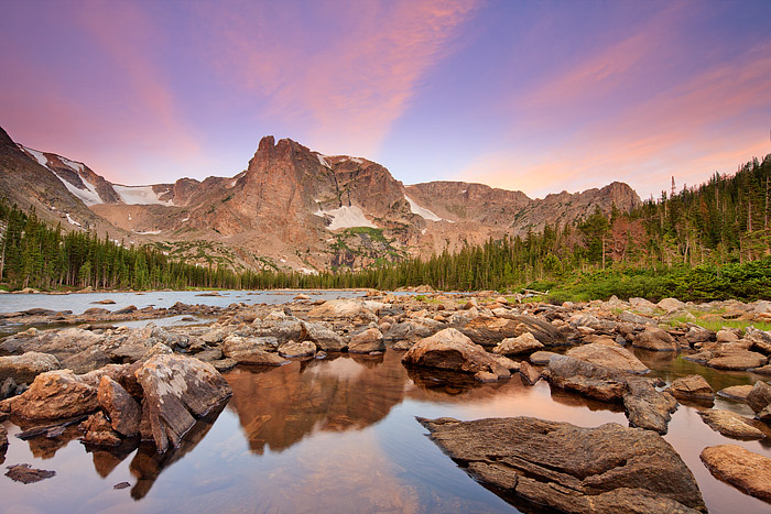 Rocky Mountain National Park, Colorado,Notchtop Mountain,Two Rivers,Lake,Sunrise, photo