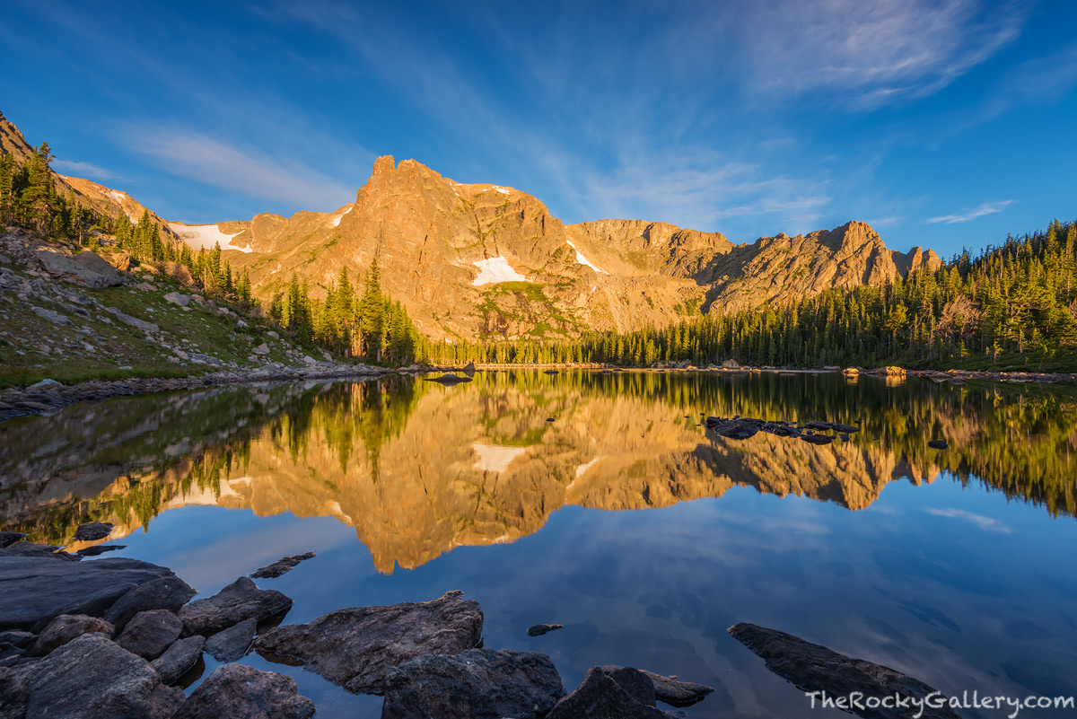Two Rivers Lake,Notchtop Mountain,RMNP,Bear Lake Trailhead,Bear Lake Road,Rocky Mountain National Park,Sunrise,Colorado,Estes Park,Landscape,Photography,August,Reflection, photo