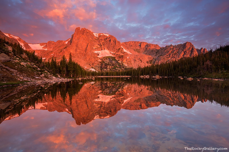 Two Rivers Lake, Notchtop Mountain, The Little Matterhorn,Estes Park,RMNP,Reflections,Rocky Mountain National Park,Colorado,Sunrise,Flattop Mountain, photo