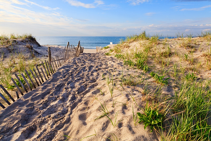 The Dunes of Watermill Beach lead to this beautiful spot on Long Islands South Shore in the Hamptons