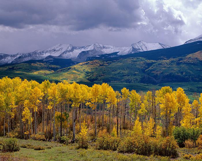 Crested Butte, West Elk, Mountains, Kebler Pass, Fall Color, Aspens, photo