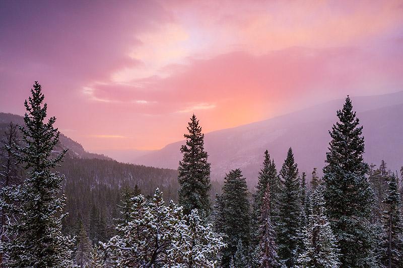 Saint Vrain,St. Vrain,Wild Basin,Rocky Mountain National Park,RMNP,Sunrise,snow,winter, photo