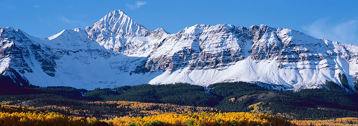 Wilson Peak, Telluride, Silver Pick Road, Ouray, Ridgeway, fall color, photo