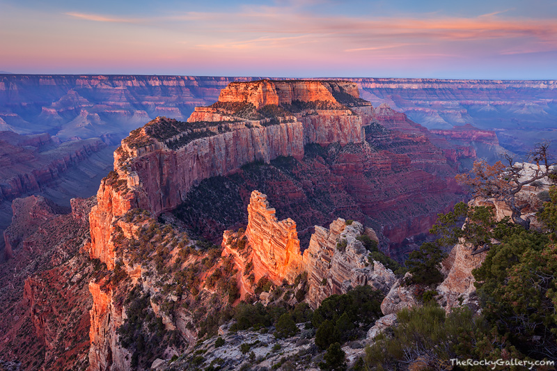 Grand Canyon, National Park, Arizona, Wootons Throne, North Rim, Colorado River, photo