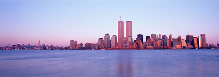 World Trade Centers from Liberty State Park at Sunset