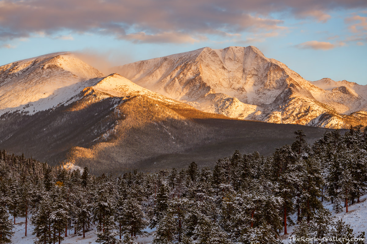 Ypsilon Mountain,Mummy Range,Trail Ridge Road,October,Snow,Sunrise,RMNP,Landscape,Photography,Colorado,Rocky Mountain National Park,Estes Park, photo