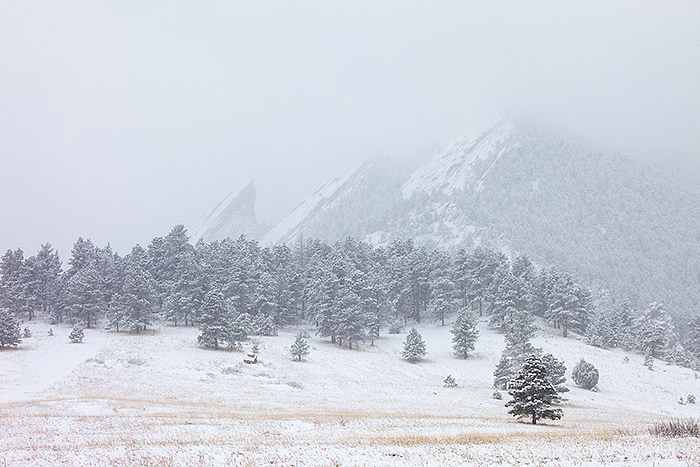 Chautauqua, Park,Meadown,snow,Boulder,Coloado,Front Range,Flatirons,Winter,Fog,storm,mountains,peaks,foothills,open space, photo