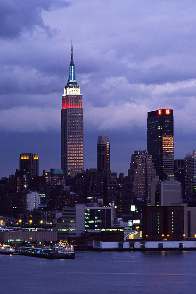 Empire State Building, Hudson River, New York, Midtown, New Jersey, Manhattan, City, photo